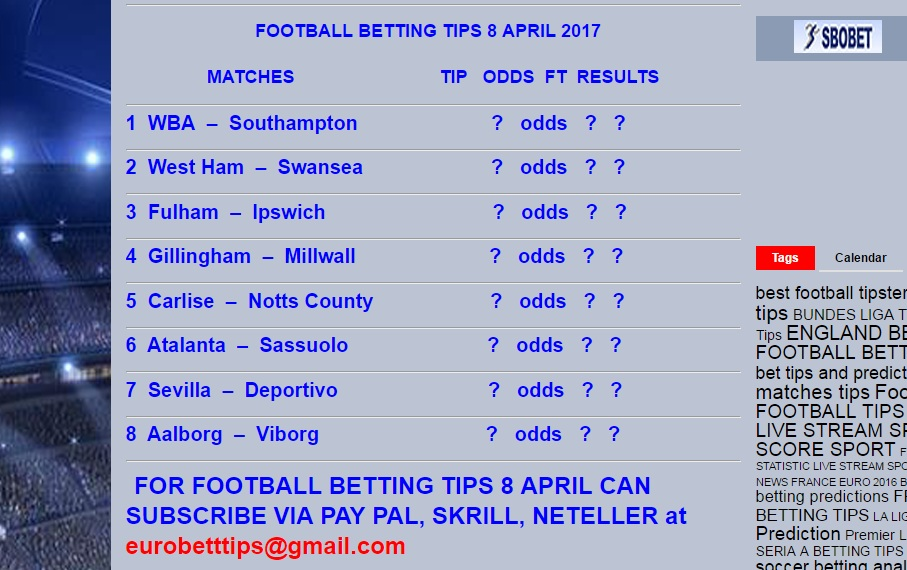 Free soccer betting tips today 39 s soccer - Berging tips ...