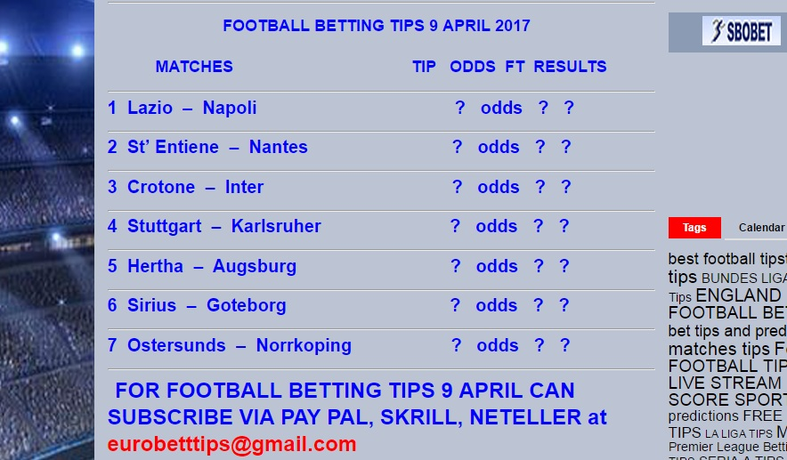 football match betting tips