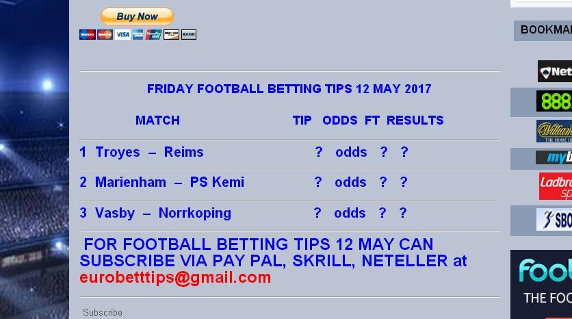 free football betting tips today