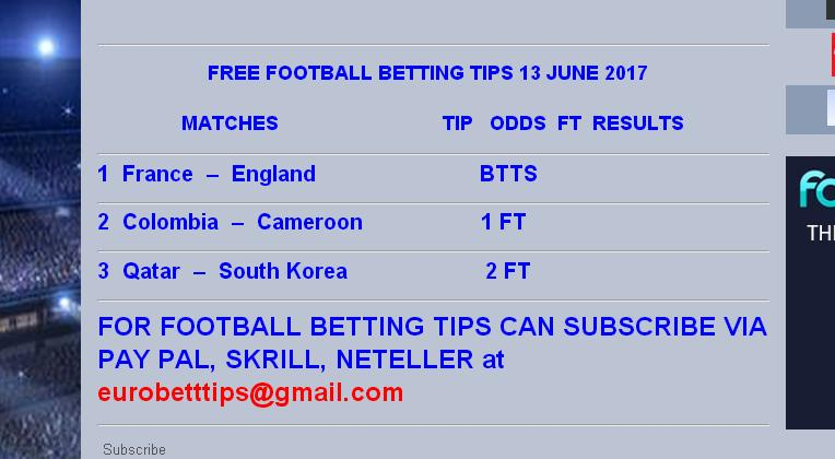 free soccer betting tips for today