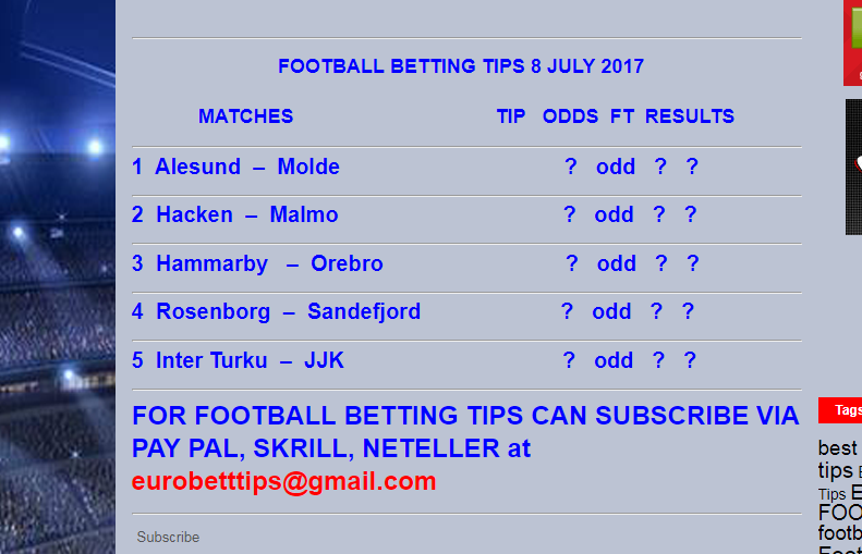 tips betting football